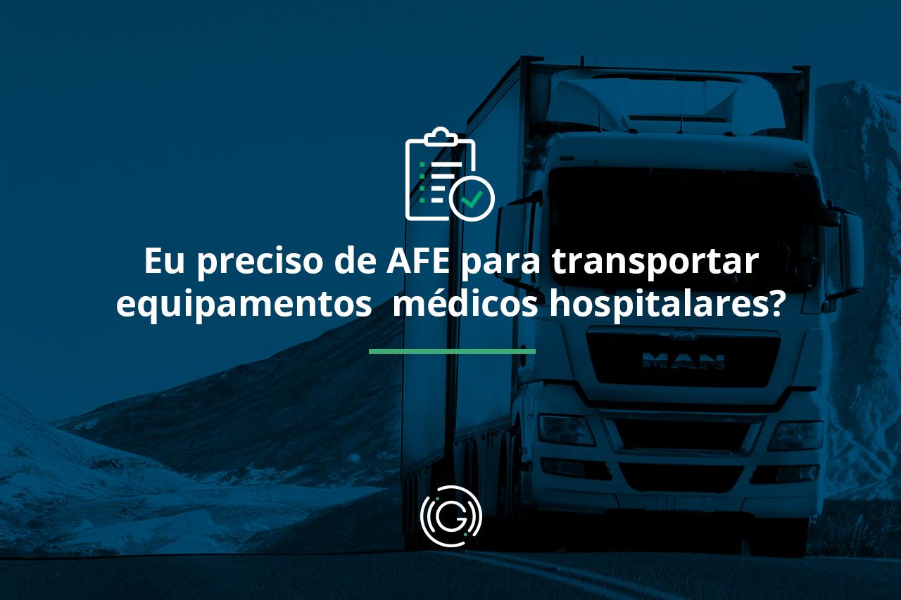 AFE para transportar equipamentos médicos hospitalares